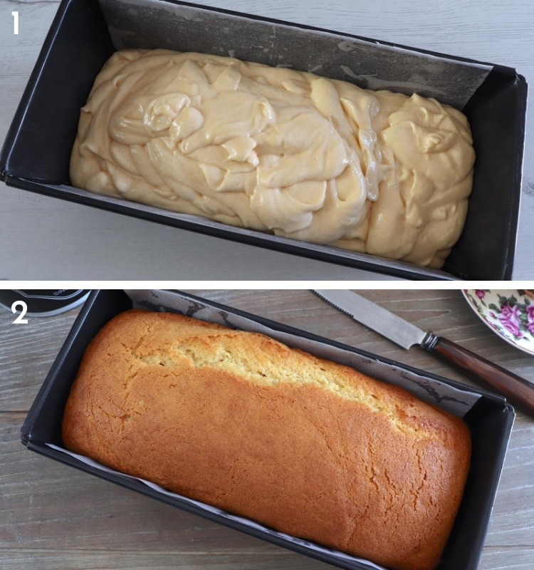 Butter and milk cake steps