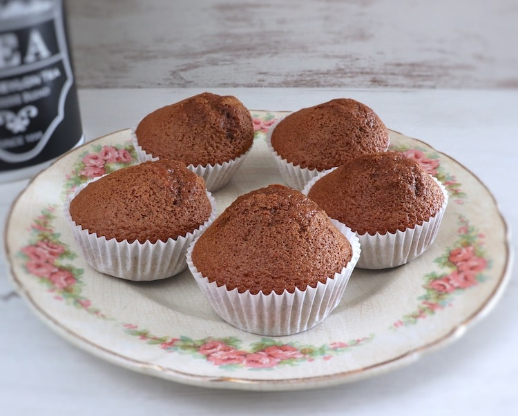 Coffee muffins on a plate