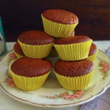 Brown sugar and honey muffins on a plate