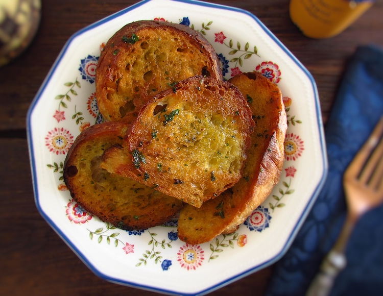 Fried bread served on a dish