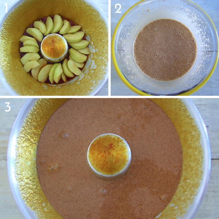 Bolo de canela com maçã caramelizada passos