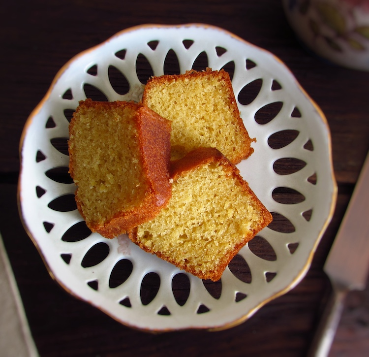 Butter cake slices on a plate