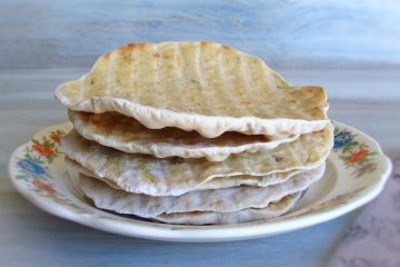 Oregano breads on a plate