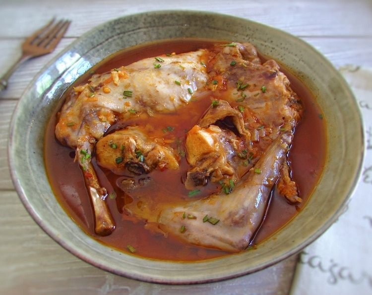 Stewed rabbit with spices | Food From Portugal