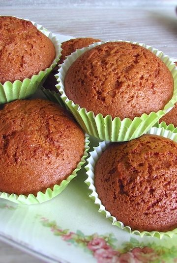 Honey and cinnamon muffins on a platter
