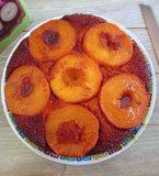 Caramelized peach cake