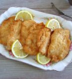 Breaded chicken steaks