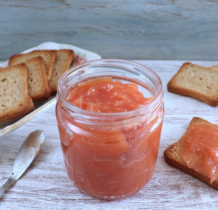 Marmalade on a glass jar