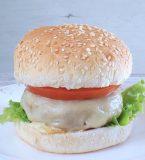 Hambúrguer com queijo caseiro