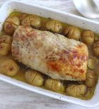 Pork loin in the oven with rosemary and honey
