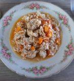 Arroz de frango e cenoura