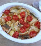 Bacalhau com batatas no forno