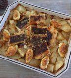 Bacalhau no forno com batatas e ovo