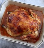 Roasted chicken with lemon and honey
