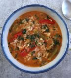 Tomato rice with peppers