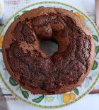 Homemade chocolate strawberry cake